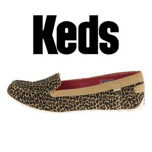 NWT Keds Cruiser Leopard Print Flats Women's 10